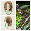 Free Shipping Link The Legend Of Zelda Sky Ward Sword Short brown cosplay Wig +a wig cap