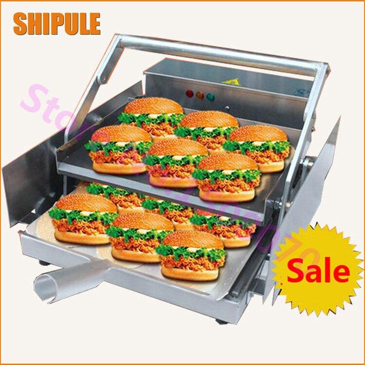 Ekmek fırın makinesi ticari endüstriyel hamburger ısıtma makinesi hamburger ısıtıcı pişmiş hamburger makinesi