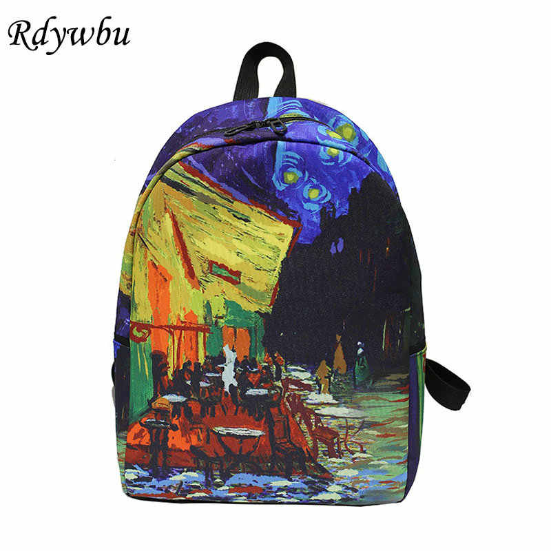 Pleasing Rdywbu Landscape Art Oil Painting Backpack New Teenages Big Pdpeps Interior Chair Design Pdpepsorg