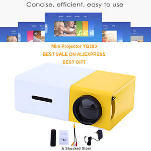 HDMI YG300 3.5mm 320x240 LED Projector For dropshipping