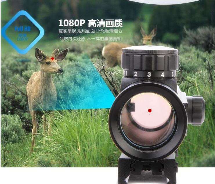 Hot koop 1x40mm 5-Mode rode en groene dot sight riflescope voor jacht - Jacht - Foto 5