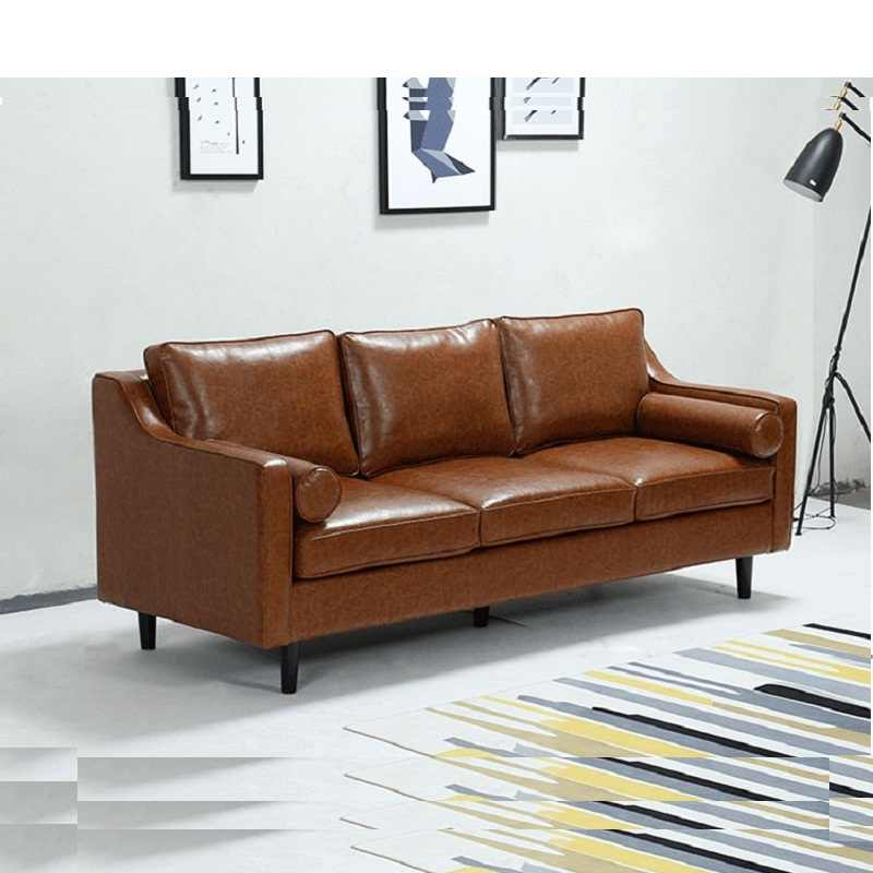U-BEST living room lounge furniture 2 seater leather couch Chocolates artistic nordic sofas 3 seater black leather sofa
