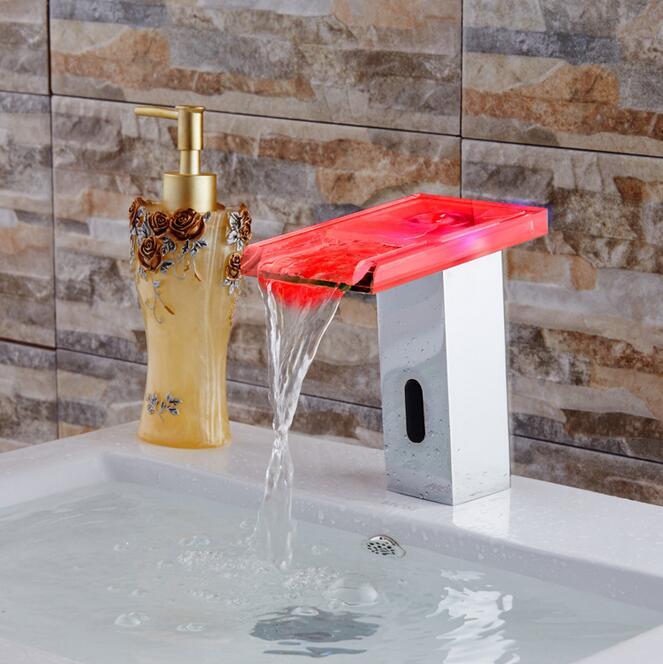 Digital Touchless sensor led Basin faucet auto digital faucet mixer Basin Bathroom faucet sink faucet Tap Torneira - 2