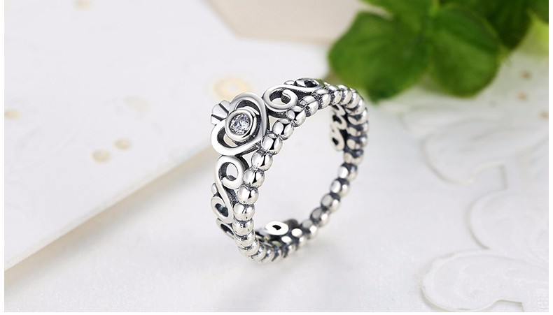 WOSTU Hot Sale Crown Simple Rings Compatible With Original WST Lucky Ring Jewelry Dropshopping