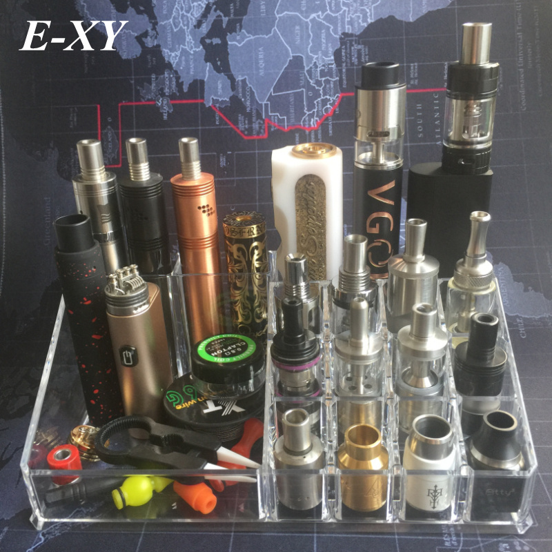 E-XY Vape Box Mod Ego Bottle Vapor RDA RTA Tank Atomizer Battery Shop Dispay Shelf holder Base E-cigarettes Accessories for