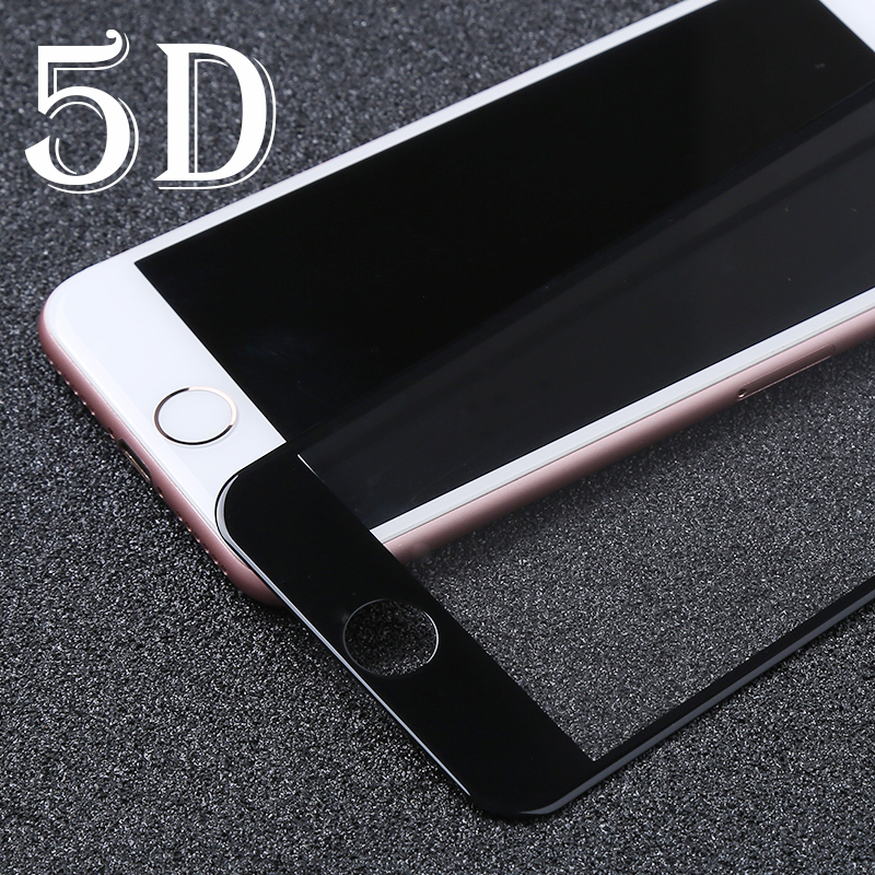 Galleria fotografica 5D Full Cover Screen Protector Film For iPhone 8 Glass iPhone 6 Glass Protective 6s X 7 Plus Screen Protector Film