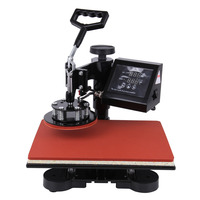 5in1 Digital Transfer Sublimation Heat Press Machine T Shirt Mug Hat Plate 12x15