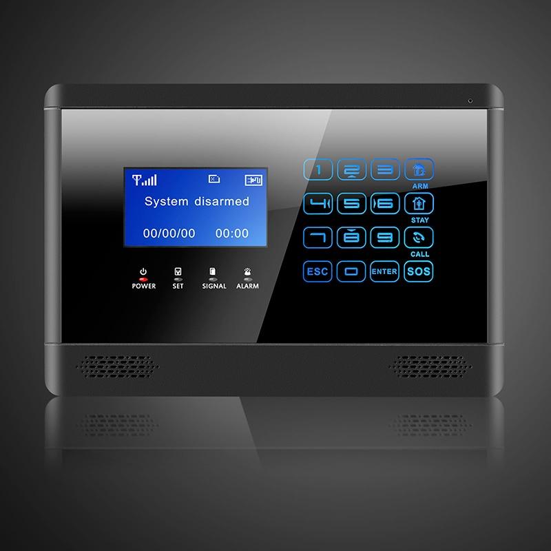 Wireless& Wired GSM SMS Home House Security Inturder Alarm System Siren Door/Window Sensor PIR Remote Controller