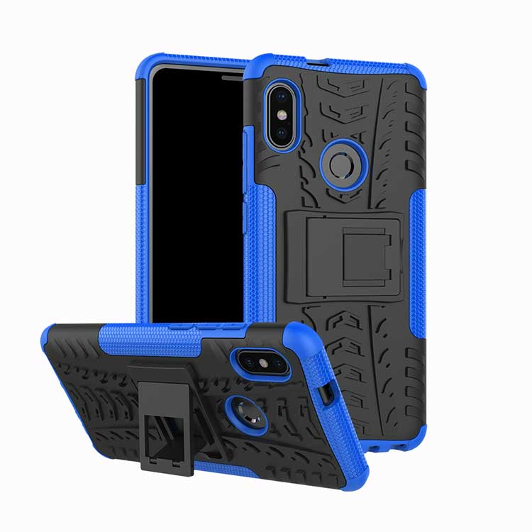 Stand Case for Honor 8x Max Silicone Bumper Plastic Fitted Kickstand Hard Case on Honor 8x Cover 6.5″coque Fundas Hard Protector