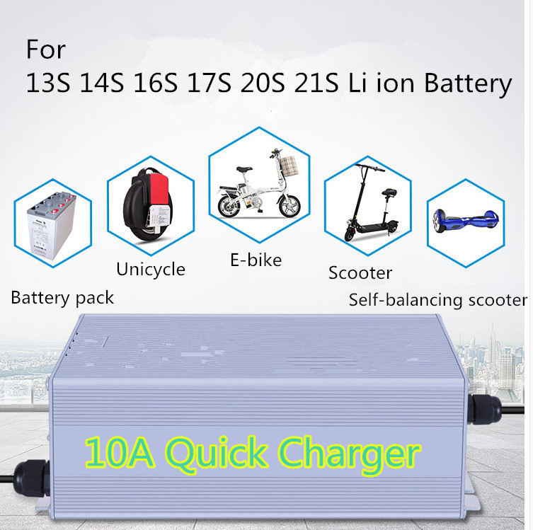 Accessories & Parts Aluminium 10a Quick Charger Mute Charging And Fast Charging For13s 14s 16s 17s 20s 21s Lithium Battery Chargers