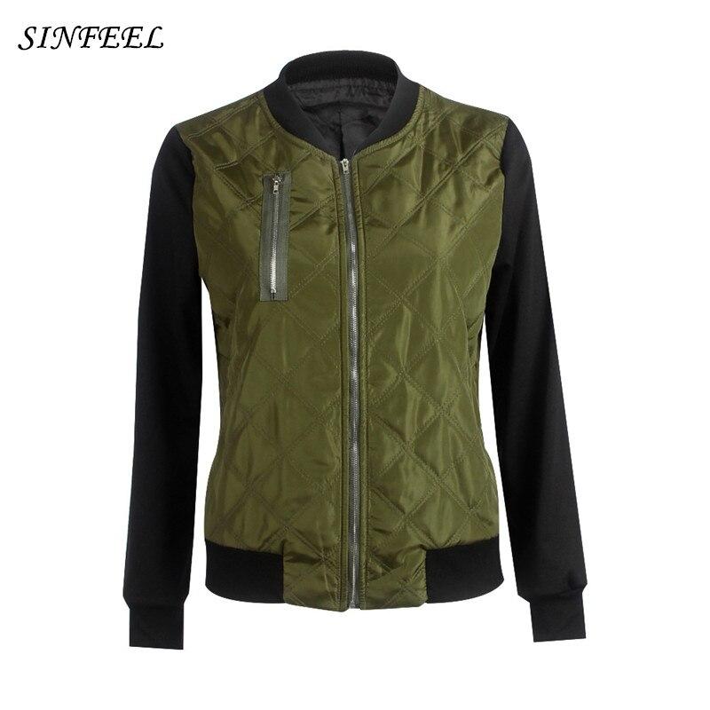 Autumn Winter parkas bomber   jacket   women coat casual   basic     jacket   windbreaker slim zipper chaquetas biker outwear tops plus size