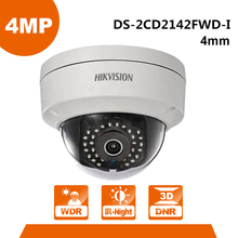 Original English Version 4 0MP IP Camera DS 2CD2142FWD I Mini Dome Camera Support Onvif POE