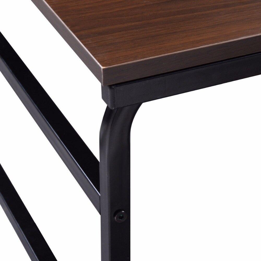 Goplus 48 Multi-Function Computer Desk with 4 Tier Shelf Workstation Table Modern Wood Home Office Desks New HW52795