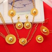 الإثيوبية عبر مجموعات الزفاف مجموعة مجوهرات الذهب اللون habesha إريتريا إثيوبيا المجوهرات