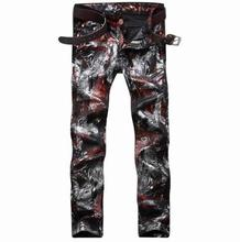 #1549 Motorcycle 3d print jeans Denim Joggers Men biker jeans Designer jeans men Skinny Famous brand homme Rock jeans Club Wear