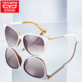 TRIUMPH VISION White Polarized Women Sunglasses Luxury Brand Design Ladies Shades 2017 Fashion Female Sun Glasses For Women New