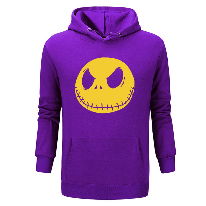 nightmare before christmas cartoon Jack Skellington Hooded Hoodies men Grimace 2018 New 100%Polyester Hip Hop pullover Hoody
