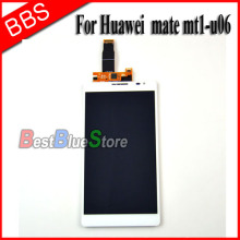 купить For Huawei ascend mate mt1-u06 lcd display touch screen with digitizer assembly , white free shipping !!! дешево