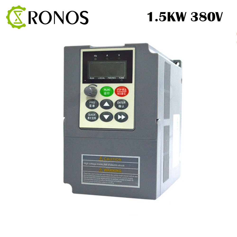 New Universal 380V AC1.5KW VFD Variable Frequency Drive 380V 3 Phase Input 3 Phase Output 380V 3.7A 1500W Frequency Inverter delta ac motor drive inverter vfd007c43a vfd c2000 series 1hp 3 phase 380v 750w new