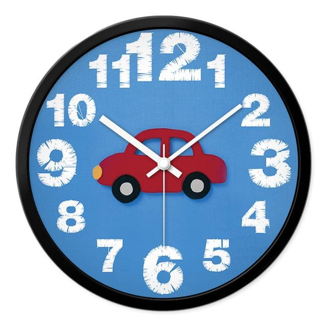 New Arrival Cartoon Wall Clock Children Room Bedroom Sitting Room Mute Creative Modern Clock Quartz Clocks For Kid Gift