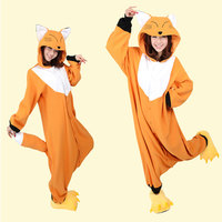 Hot Sale! New Arrival Winter Unisex Animal Onesie Pajamas Cosplay Costume Animal Pajamas Adult Sleepwear Fox Onesie