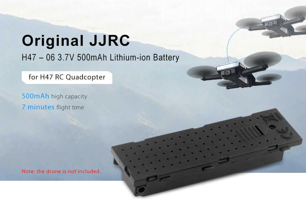 Nouveauté JJRC H47-06 batterie adaptée pour H47 RC quadrirotor 3.7V 500mAh batterie Lithium-ion 7 Minutes volant 1 pièces Bateria