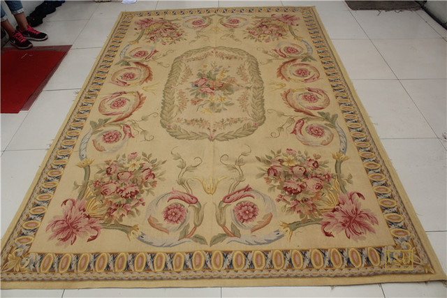 weave aubusson french woven rugs product wool rug x hand