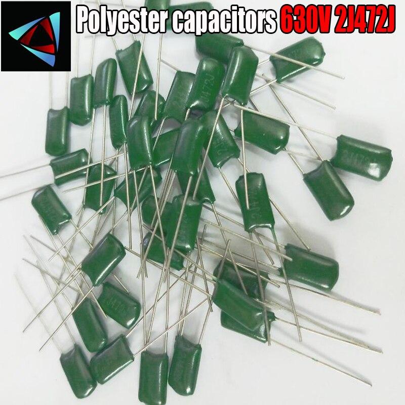40pcs Mylar Film Capacitor 630V 2J472J 4700pF 4.7nF 2J472