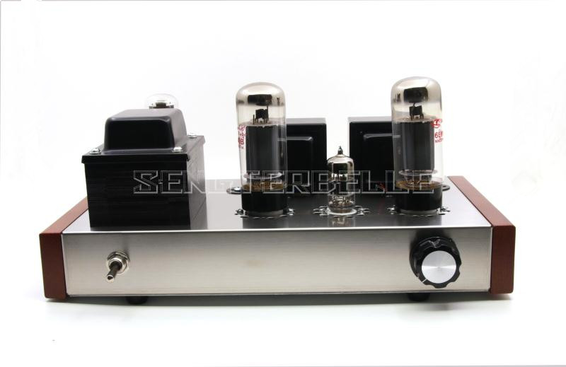 Finished 6P3P Tube Single-ended Class A Power Amplifier Stereo HiFi 7W+7W Amp