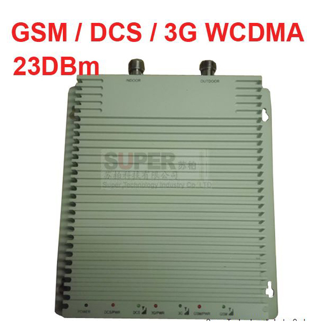 GSM DCS 3G 3 bands repeater GSM 900Mhz DCS1800Mhz WCDMA 2100Mhz booster,60-65 dbi Triband mobile phone signal booster repeater
