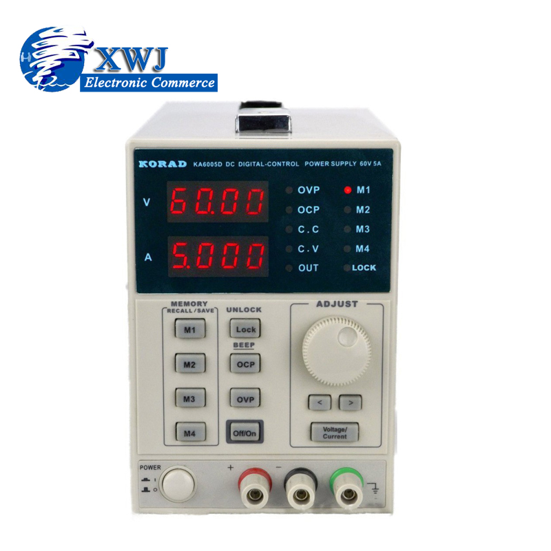 high quality KORAD KA6005D -Precision Variable Adjustable 60V, 5A DC Linear Power Supply Digital Regulated Lab Grade rps6005c 2 dc power supply 4 digital display high precision dc voltage supply 60v 5a linear power supply maintenance