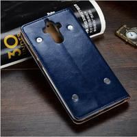 100 New Genuine Leather Case For Huawei Mate 9 Flip Phone Leather Protective Skin Cover For