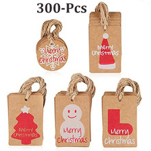 Brown Kraft Paper Christmas Gift Tags with christmas decorations for home Twine String Tie on Smooth and wendding party tags