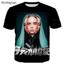 American Singer Billie Eilish Bury A Friend 3D Print Tshirt Men/women Gothic Streetwear T Shirts Clothes Camiseta Masculina 6XL