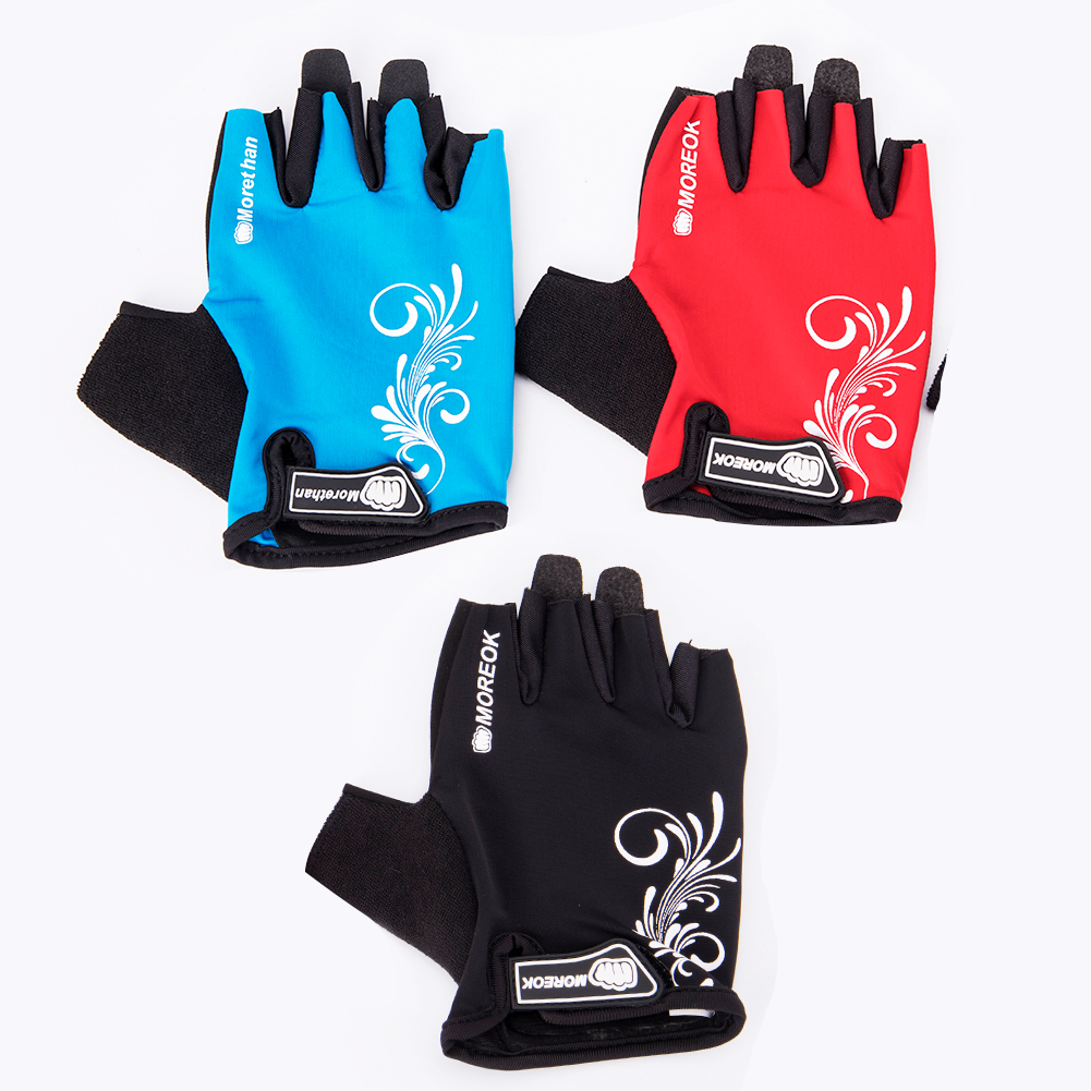 Bicycle Gloves Mountain Bike Riding Equipment Half Finger Gloves Men / Women Outdoor Sun Protection Sports Fishing Breathable