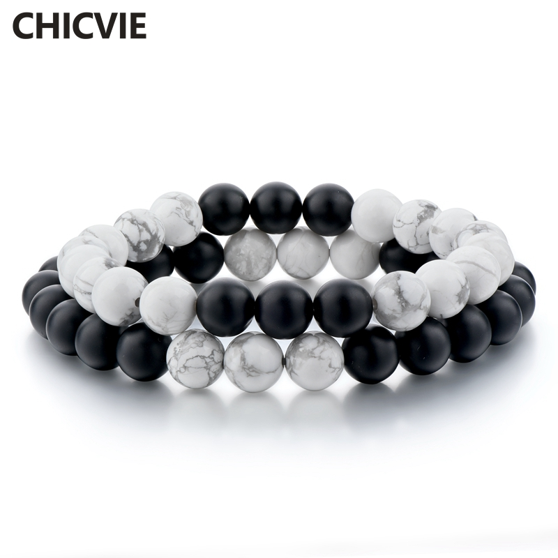 Купить chicvie белый и черный браслет браслеты для мужчин женщин влюбленных