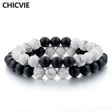 Chicvie белый и черный браслет браслеты для мужчин женщин влюбленных