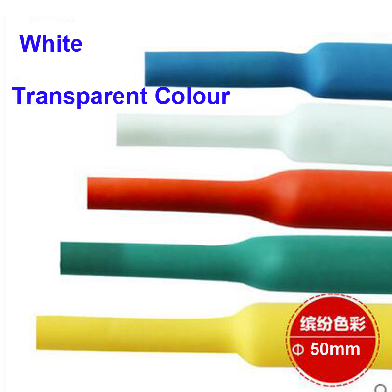 Free Shipping Quality Assurance 10m/ Roll Environmental Protection PE Material white 50mm Diameter Heat Shrink Tubing 3mbi50sx 120 02 special offer seckill consumer protection of business integrity quality assurance 100