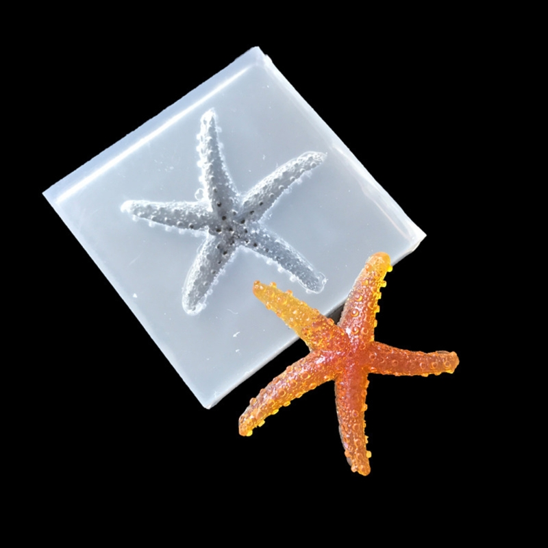 Silicone 3D Starfish Mould Fondant Molds Decor Tools