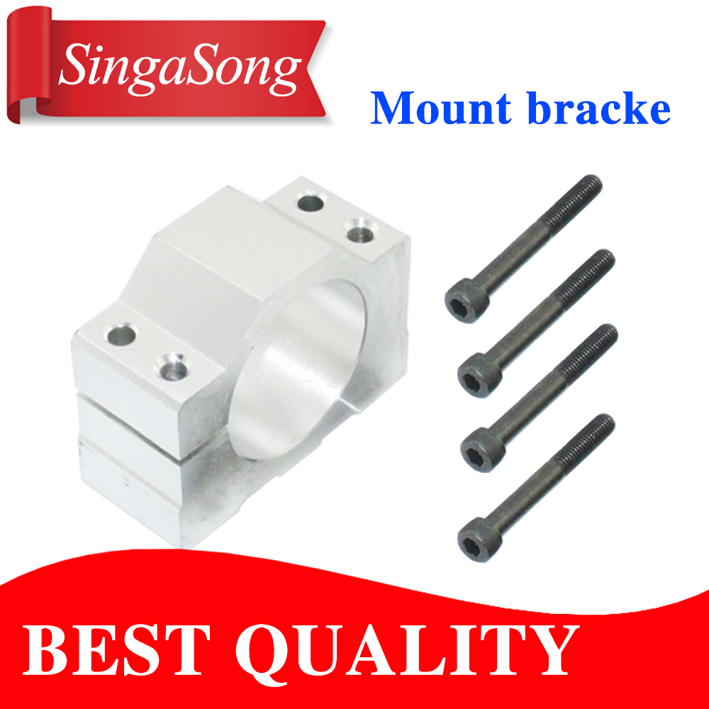 Free shipping 1PCS 52mm Mount Bracket Spindle Fixture For ER11 300W 400W 500W DC spindle motor free shipping er11 collet dc12 48 cnc 300w spindle motor 52mm mount bracket spindle power 300w for pcb engraving