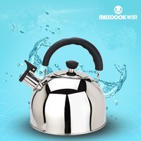 5L Stainless Steel Kettle Gas Cooker Universal Thicker Whistling Kettle Beeps Large Teapot Burn Boiling Water Suit Gas Cooker
