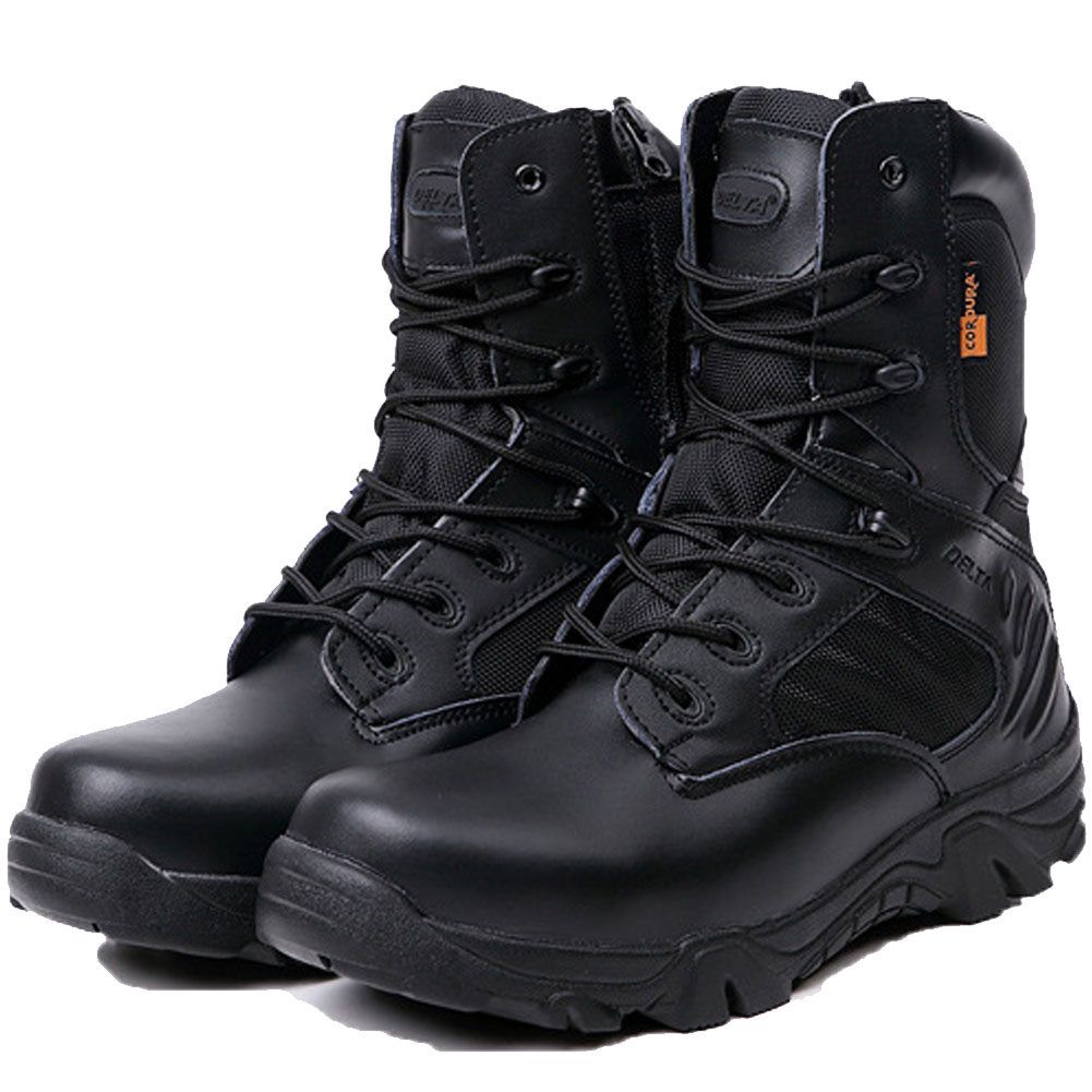 Winter Men Military Combat Boots Leather Desert Work ...