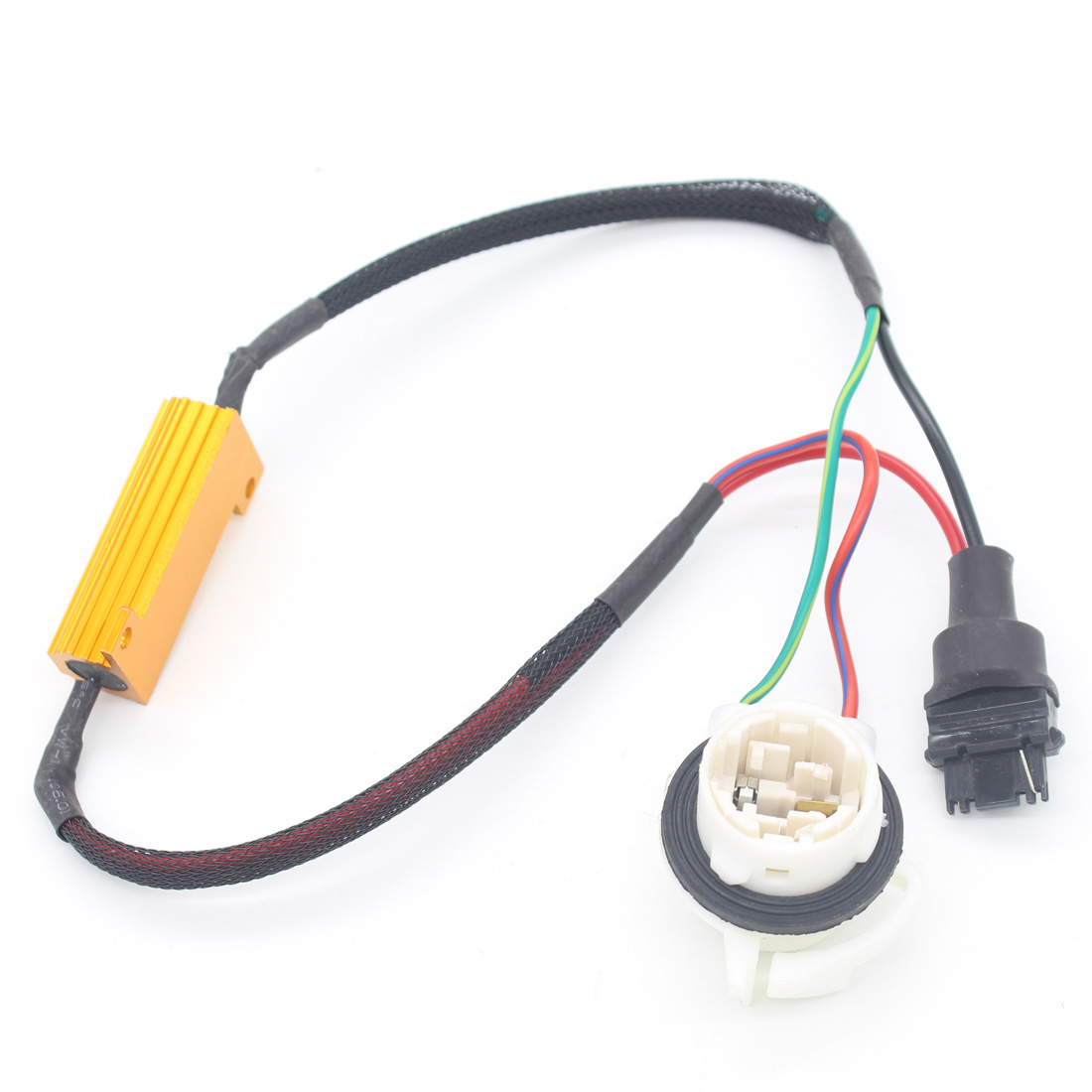 Car LED Fog Light lamp Load Resistor Canbus Error Free Wiring Canceller Decoder H11 Car Styling Motorbike DRL Xenon HID 2x car 1157 bay15d 1034 warning canceller error free load resistor led decoder