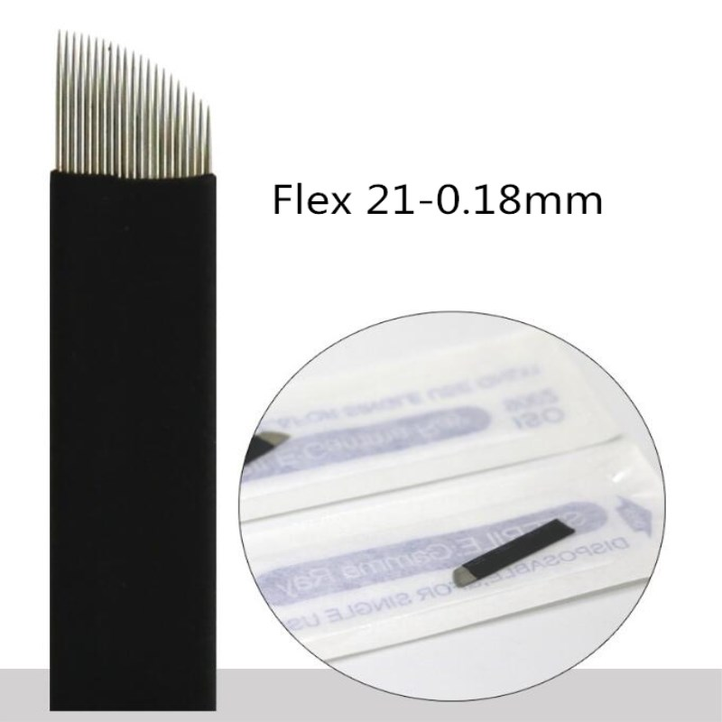 500pieces 0 18mm Black 7 9 11 2 14 16 17 18 21 Microblading Needles Tebori Microblading Blades For Manual Tattoo Pen Machine in Tattoo Needles from Beauty Health