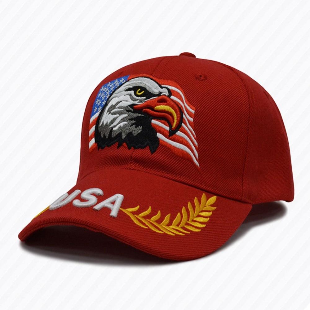 American Flag Usa Eagle Baseball Hat For Women Men Adjustable Breathable Quick-drying Baseball Cap Tennis Sports & Entertainment