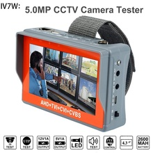 IV7W 4.3 inch four in one HD CCTV tester monitor AHD CVI TVI CVBS analog cameras testing 5MP 3MP 1080P 960P 720P PTZ new 4 3 inch 5mp 1080p camera tester ahd tvi cvi analog cvbs in 1 cctv tester monitor support utp ptz audio test cctv tester