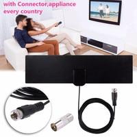 120 км цифровая HD ТВ внутренняя телевизионная антенна с Усилитель сигнала Усилитель ТВ лиса Surf Antena Бесплатная антенна DVB-T2/DVB-T Antena приставка