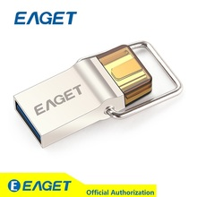 100%Original EAGET CU10 Type-C USB3.0 Flash Drive Micro USB OTG 16G 32G 64G Pendrive Smart Phone Pen Drive Memory Portable USB