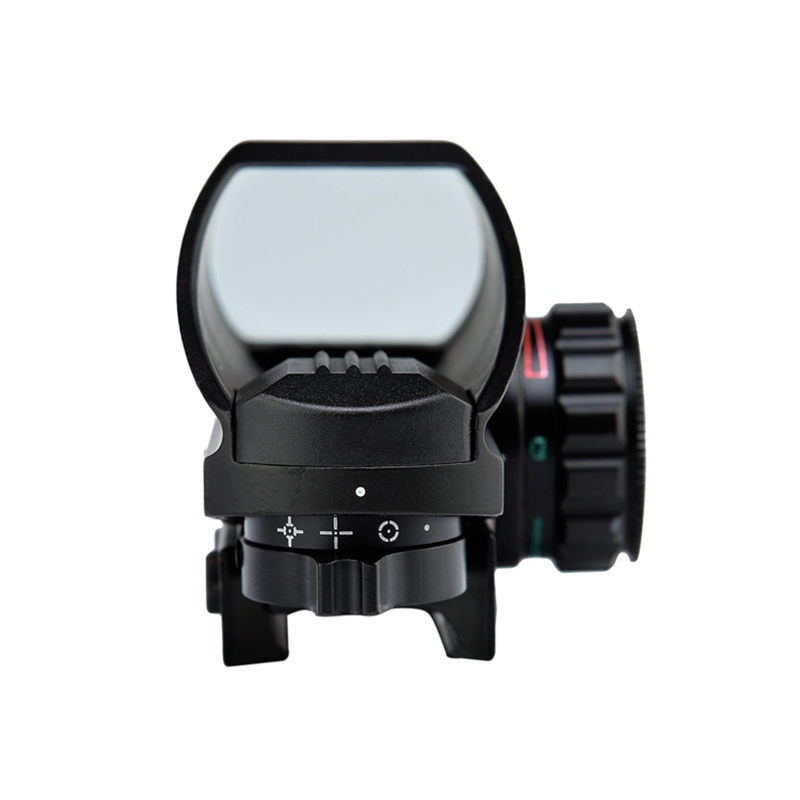 Hunting Optics 1x22x33 Compact Reflex Red Green Dot Sight Riflescope 4 Reticle Sight for Airsoft Weaver 11mm Mount airsoft gun in Riflescopes from Sports Entertainment