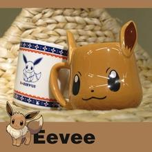 Anime Spiel Pokemon Taschen-monster Super Kawaii Eevee Becher Kaffee Milch Tee Tasse Nette Tumbler Für Freund Kinder Geschenk